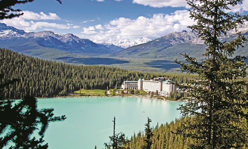 Stay at the opulent Fairmont Chateau Lake Louise