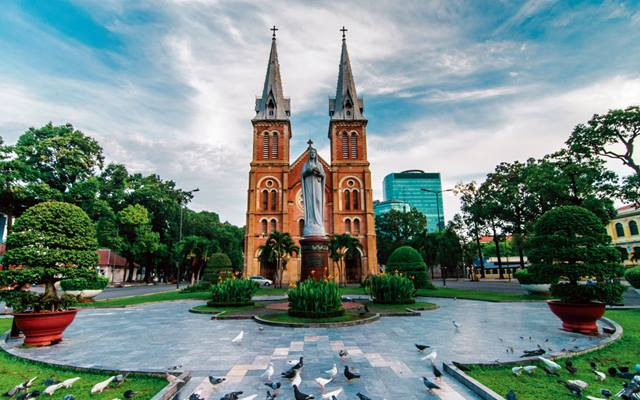 Visit the Notre Dame Basilica in Ho Chi Minh City, Vietnam