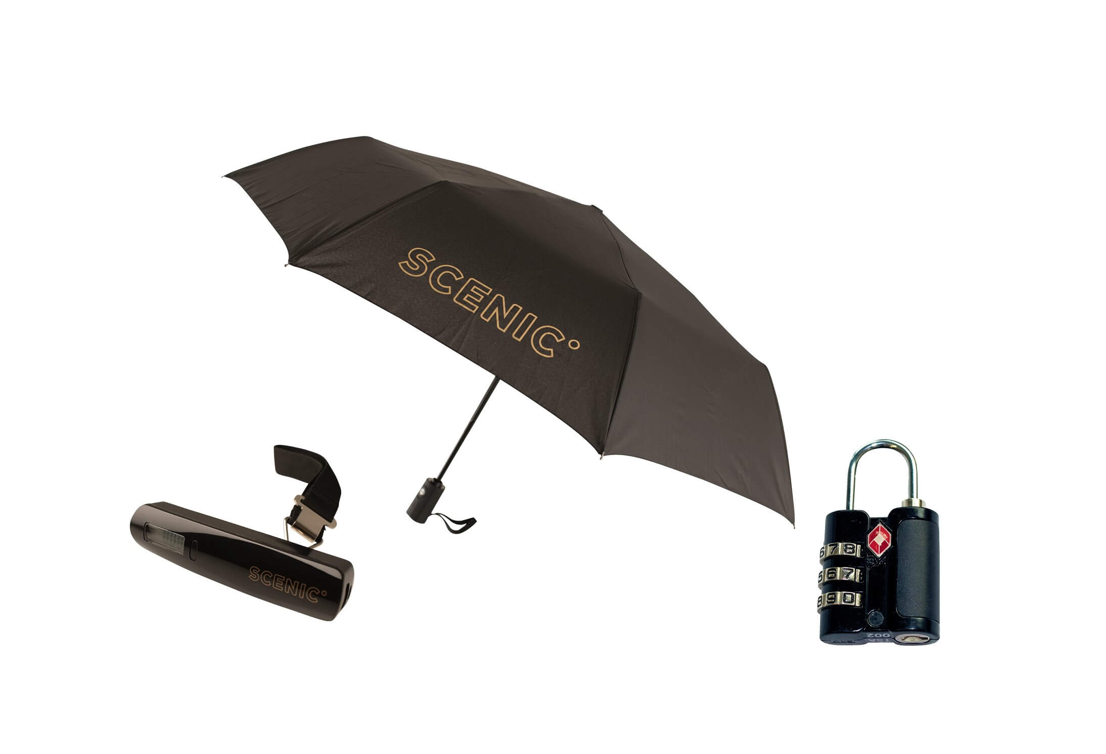 Umbrella or Lock or USB Charger