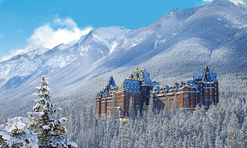 Fairmont Banff Springs in winter