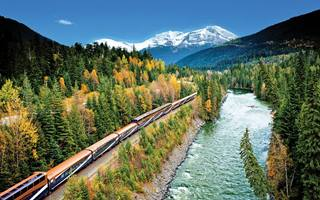 Ride the Rocky Mountaineer train in GoldLeaf carriage